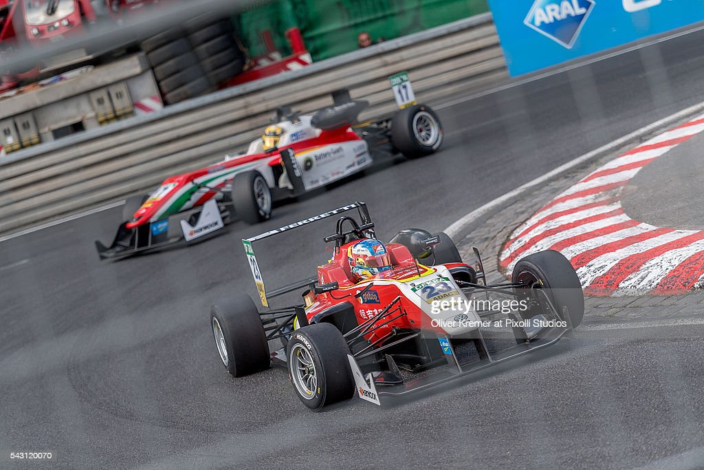 Guanyu Zhou (CHN) of Team Motopark racing for the FIA Formula 3 European Championship at the Norisring during Day 2 of the 74. International ADAC Norisring Speedweekend on June 26, 2016 in Nuremberg, Germany.