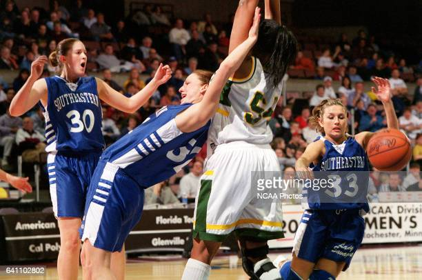Guard Dana Sutton of Southeastern Oklahoma State University hustles for a loose ball against Cal Poly Pomona during the NCAA Division 2 Women's...
