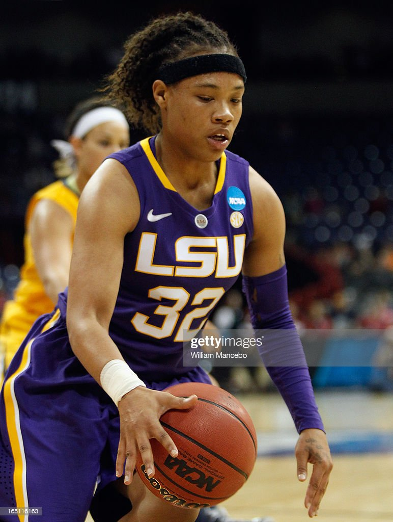 Guard Danielle Ballard #32 of the LSU Lady Tigers plays against the California Golden Bears during the NCAA Division I Women's Basketball Regional Championship at Spokane Arena on March 30, 2013 in Spokane, Washington. The Golden Bears defeated the Lady Tigers 73-63.