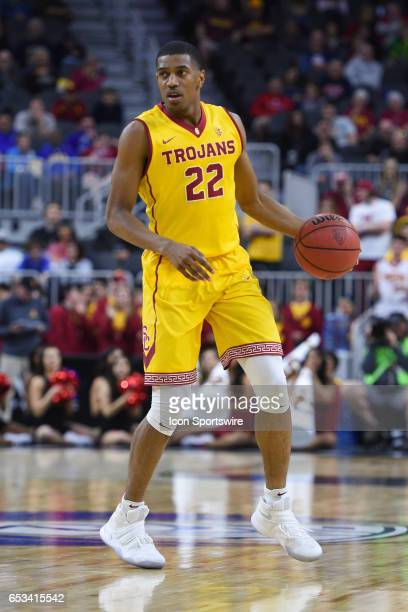 USC guard DeAnthony Melton sets up the offense during the first round game of the Pac12 Tournament between the Washington Huskies and the USC Trojans...