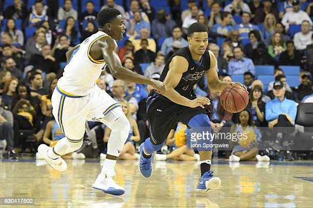 UCSB guard Eric Childress drives to the basket during an NCAA basketball game between the UC Santa Barbara Gauchos and the UCLA Bruins on December 14...