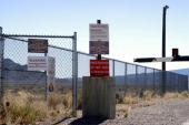 Guard Gate at Area 51 near Rachel Nevada