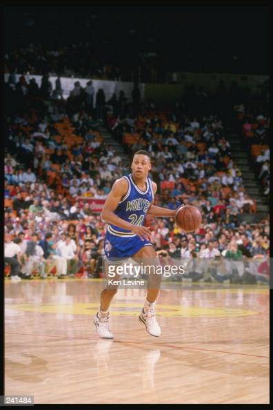 Guard Jerome Richardson of the Minnesota Timberwolves in action against the Los Angeles Lakers at the Great Western Forum in Inglewood California...