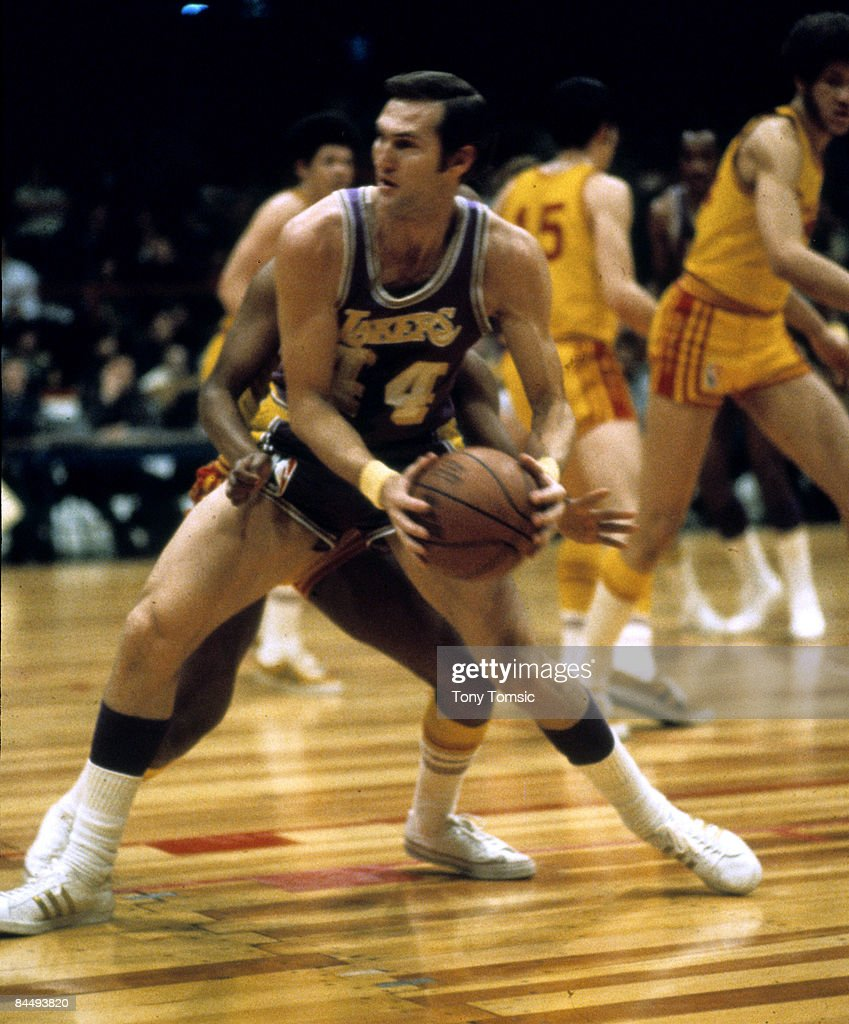 Guard Jerry West of the Los Angeles Lakers.