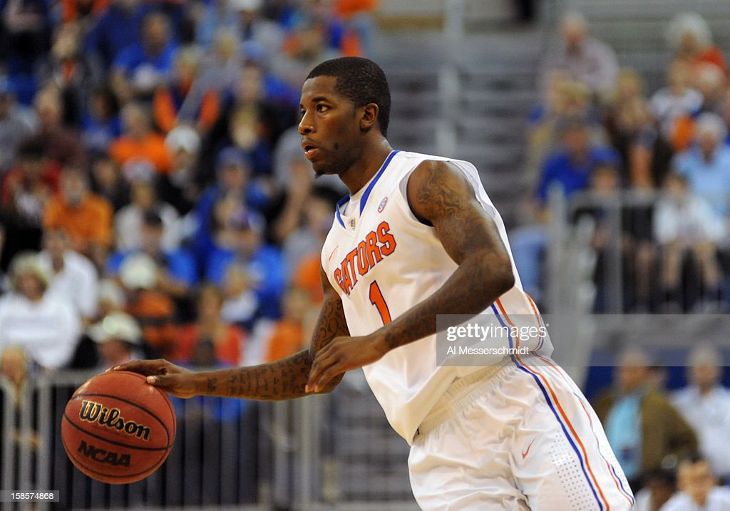 Guard Kenny Boynton #1 of the Florida Gators drives to the basket against the Southeastern Louisiana Lions December 19, 2012 at Stephen C. O'Connell Center in Gainesville, Florida. Florida won 82 - 43.