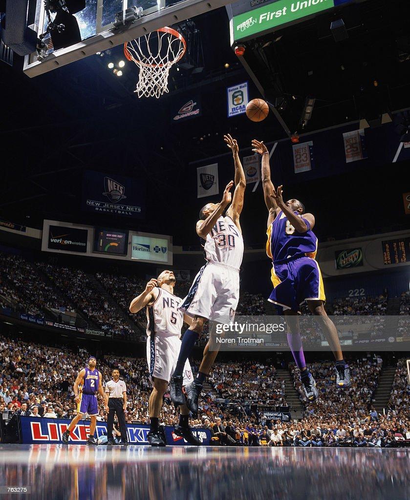 Kobe Bryant shoots a jump shot