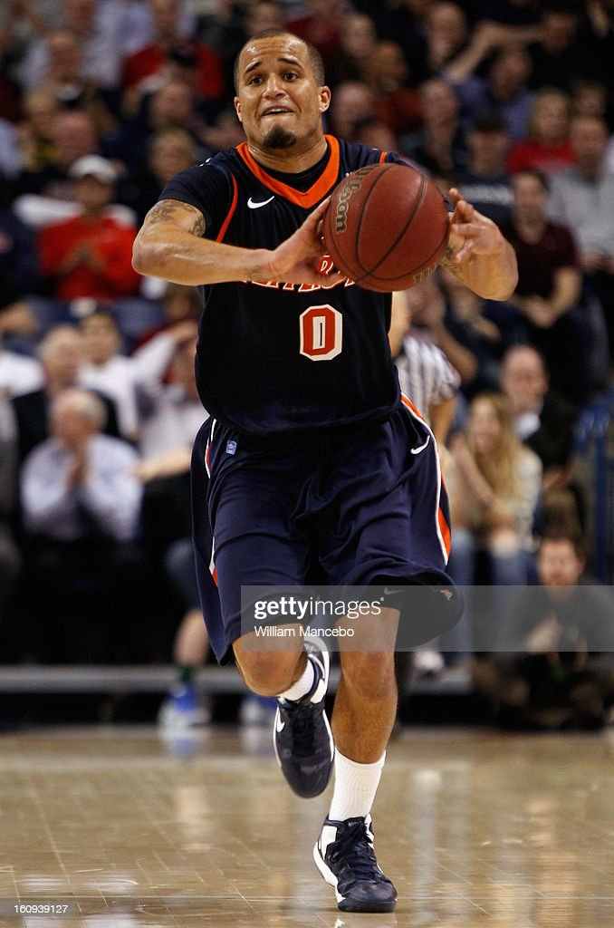 Guard Lorne Jackson #0 of the Pepperdine Waves passes the ball during the game against the Gonzaga Bulldogs at McCarthey Athletic Center on February 7, 2013 in Spokane, Washington.