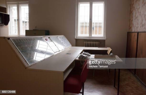 Guard Office in the former prison of the East German communistera secret police or Stasi at Hohenschoenhausen on August 11 2017 in Berlin Germany The...