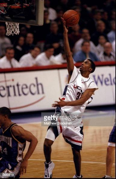 Guard Richard Hamilton of the University of Connecticut Huskies in action during the Great Eight Classic against the Washington Huskies at the United...
