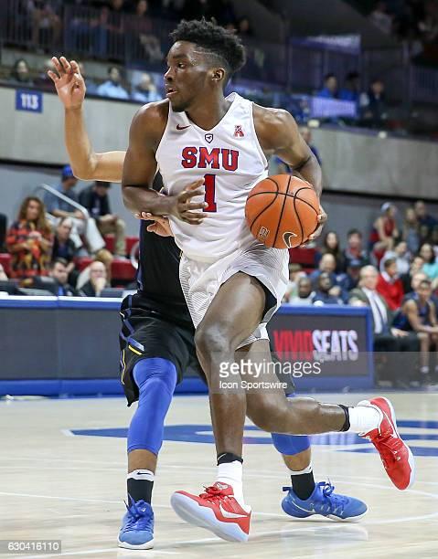 SMU guard Shake Milton drives to the basket during the NCAA men's basketball game between SMU Mustangs and UC Santa Barbara Gauchos on November 22...