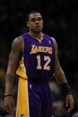Guard Shannon Brown of the Los Angeles Lakers at ATT Center on December 28 2010 in San Antonio Texas NOTE TO USER User expressly acknowledges and...