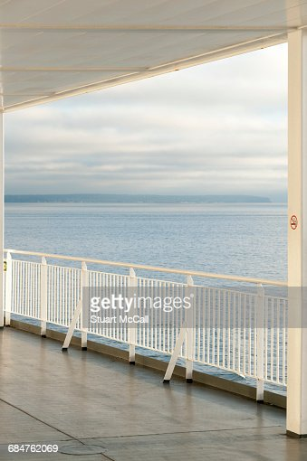 Guardrail on the deck of ferry