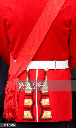 Guardsman's tunic, Trooping the Colour, London : Stock Photo