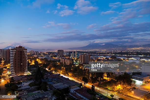 Guatemala City by dusk