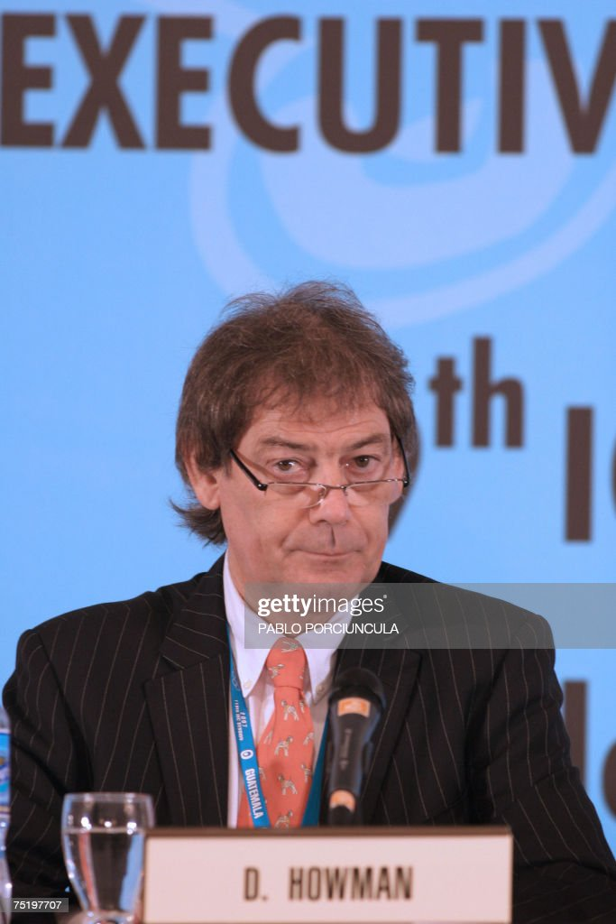 Director General of WADA, David Howman (L) gives a press conference on the third day of the 119th International Olympic Committee Session 06 July, 2007 in Guatemala City. AFP PHOTO/Pablo PORCIUNCULA