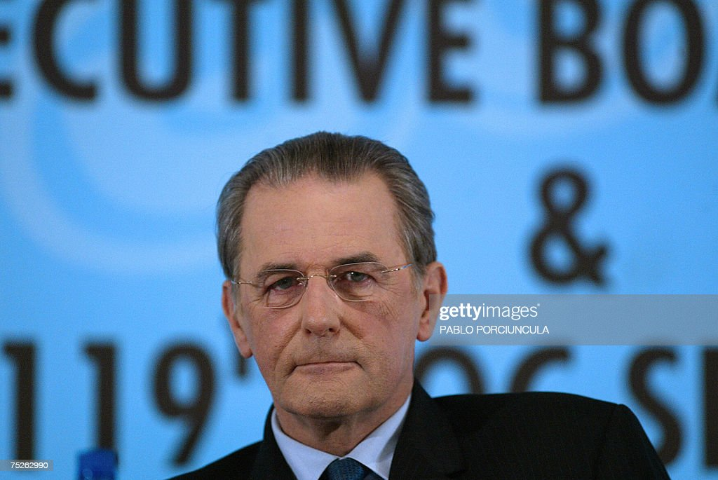 Jacques Rogge, president of the International Olympic Committee, gives a press conference at the end of the 119th IOC Session in Guatemala City, on July 7th, 2007.