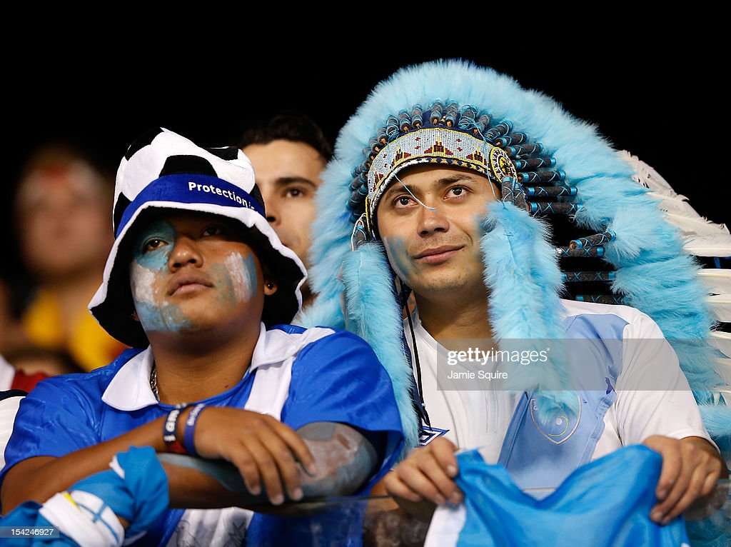 Guatemala fans watch the action during the World Cup Qualifying match against the USA at LiveStrong Sporting Park on October 16, 2012 in Kansas City, Kansas.