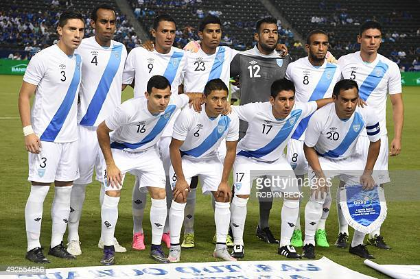 Guatemala poses for a team photo before their 'la Copa Delta' national team soccer friendly match on October 13 2015 at the Stub Hub Center in Carson...