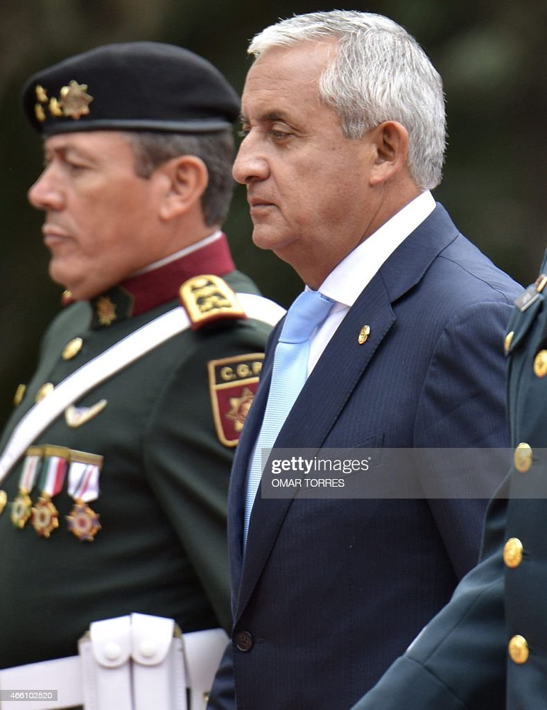 Guatemalan President Otto Perez Molina during a ceremony held at the Altar de la Patria monument in Mexico City on March 13 upon his arrival in...