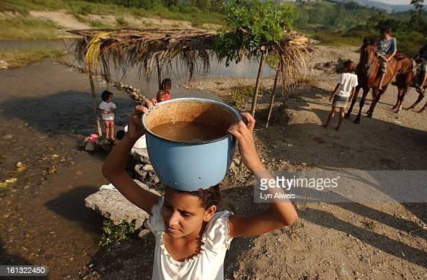 GuaymitasHondurasOctober 262003 Miriam Garcia <cq> age 13 is the person in her family that goes to the Guaymas River for the family's water Other...