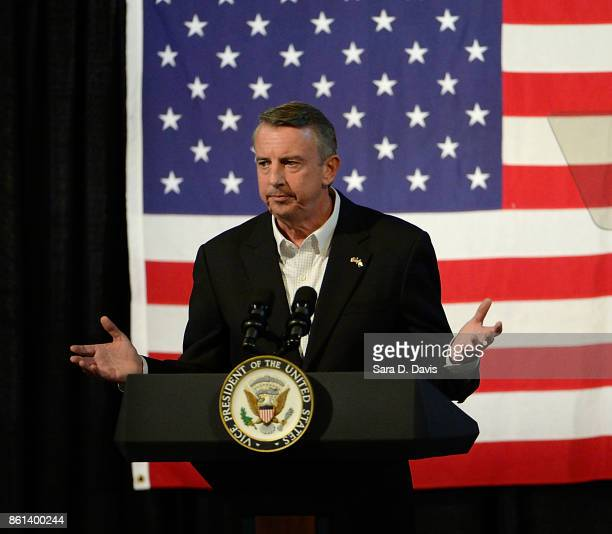Gubernatorial candidate Ed Gillespie RVA speaks at a campaign rally at the Washington County Fairgrounds on October 14 2017 in Abingdon Virginia...