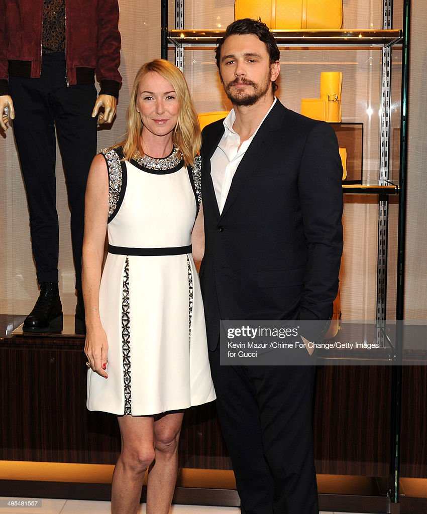 Gucci Creative Director Frida Giannini and James Franco attend the CHIME FOR CHANGE One-Year Anniversary Event hosted by Gucci Creative Director Frida Giannini and T Magazine Editor-In-Chief Deborah Needleman at Gucci Fifth Avenue on June 3, 2014 in New York City.
