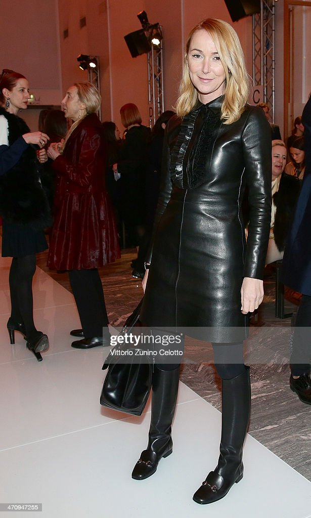 Gucci Designer <a gi-track='captionPersonalityLinkClicked' href=/galleries/search?phrase=Frida+Giannini&family=editorial&specificpeople=559380 ng-click='$event.stopPropagation()'>Frida Giannini</a> attends the International Woolmark Prize as part of Milan Fashion Week Womenswear Autumn/Winter 2014 on February 21, 2014 in Milan, Italy.