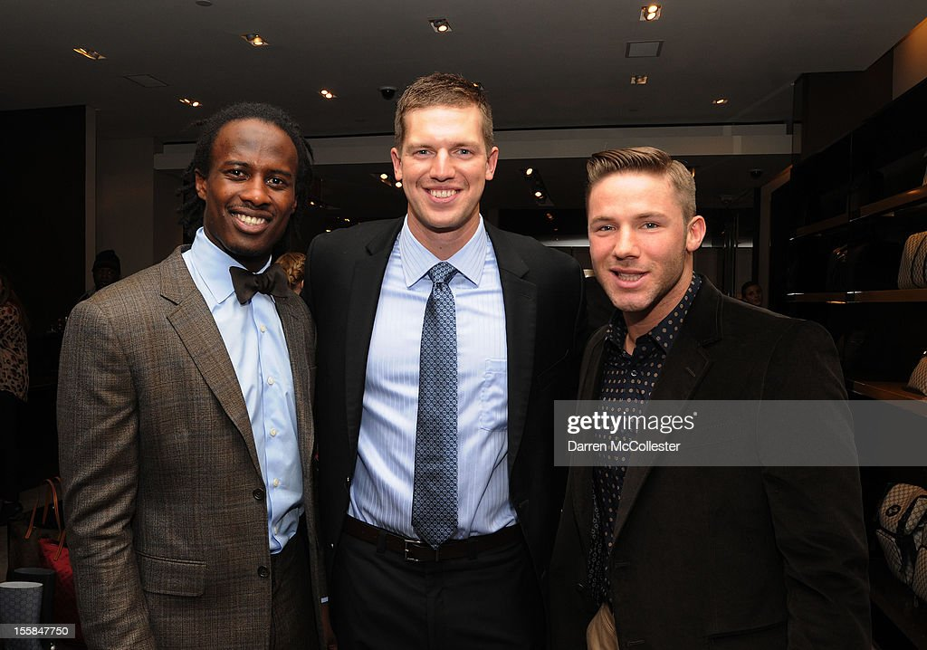 Gucci Hosts Private Cocktail Party With Brandon Lloyd, Zoltan Mesko, and Julian Edelman benefitting Boston Children's Hospital on November 8, 2012 in Boston, Massachusetts.
