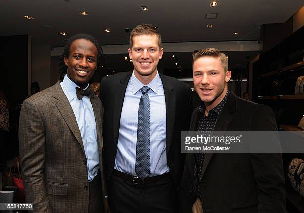 Gucci Hosts Private Cocktail Party With Brandon Lloyd Zoltan Mesko and Julian Edelman benefitting Boston Children's Hospital on November 8 2012 in...