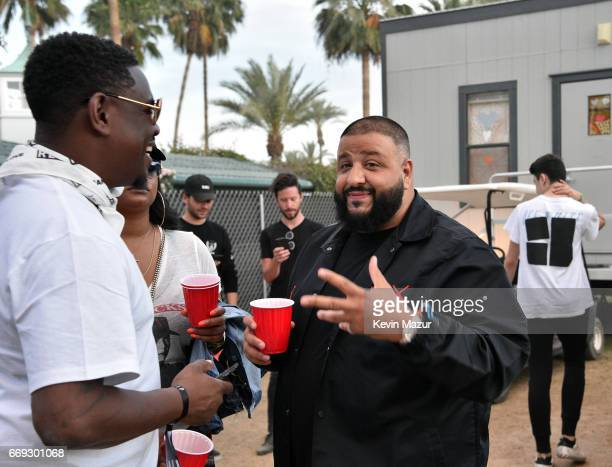 Gucci Mane and DJ Khaled during day 3 of the Coachella Valley Music And Arts Festival at the Empire Polo Club on April 16 2017 in Indio California