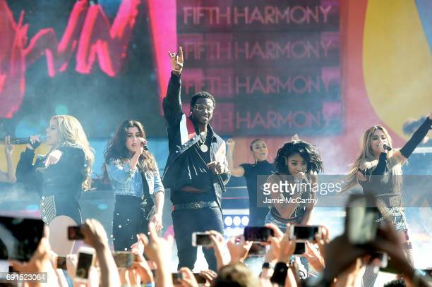 Gucci Mane and Fifth Harmony perform on ABC's 'Good Morning America' at Rumsey Playfield Central Park on June 2 2017 in New York City