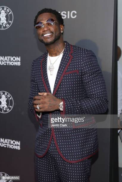Gucci Mane attends the Los Angeles Premiere Of 'Can't Stop Won't Stop' at Writers Guild of America West on June 21 2017 in Los Angeles California