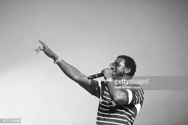 Gucci Mane performs at the Sahara Tent during day 2 of the 2017 Coachella Valley Music Arts Festival at the Empire Polo Club on April 22 2017 in...