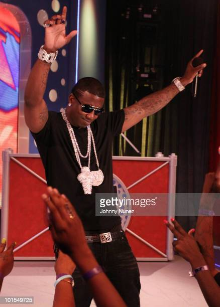 Gucci Mane visits BET's '106 Park' at BET Studios on June 1 2010 in New York City