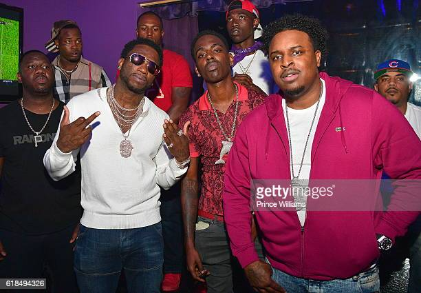 Gucci Mane Young Dolph and Big Kuntry attend Woptober Fest at V Live on October 20 2016 in Atlanta Georgia