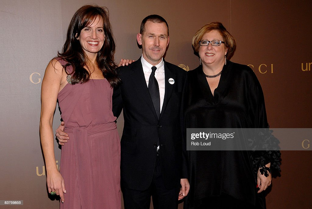 Gucci President Daniella Vitale, Gucci CEO Mark Lee, and and UNICEF President Caryl Stern attend the launch of Gucci's Tattoo Heart Collection to benefit UNICEF at Gucci's 5th Avenue store on November 19, 2008 in New York City.