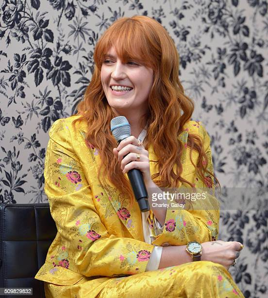 Gucci Timepieces and Jewelry announces Florence Welch as 2016 Brand Ambassador on February 12 2016 in Los Angeles California