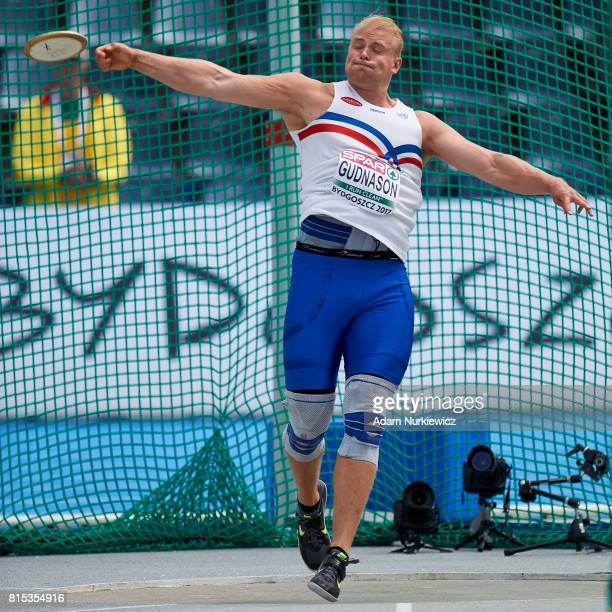 Gudni Valur Gudnason from Iceland competes in men's discus throw final during Day 4 of European Athletics U23 Championships 2017 at Zawisza Stadium...