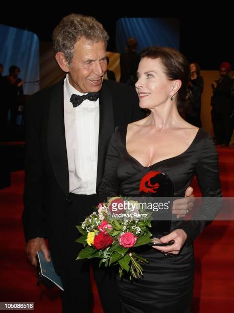 Gudrun Landgrebe and husband Ulrich von Nathusius attend the 'Hesse Movie Award 2010' at the Alte Oper on October 8 2010 in Frankfurt am Main Germany