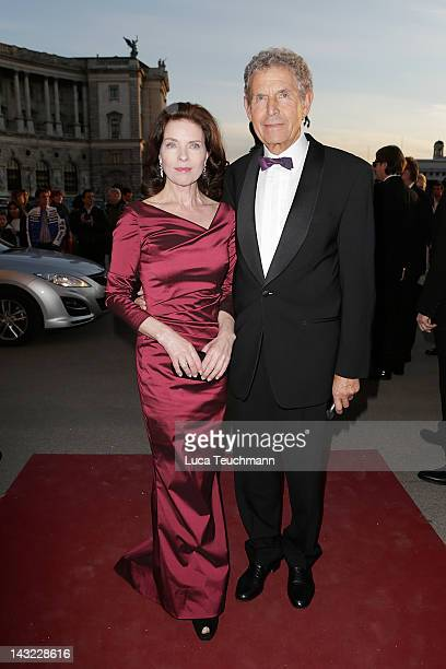 Gudrun Landgrebe and Ulrich von Nathusius attend the 23nd KURIER ROMY Gala at the Hofburg on April 16 2011 on April 21 2012 in Vienna Austria
