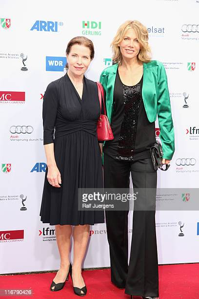 Gudrun Landgrebe and Ursula Karven attend the SemiFinal Judgings Of International Emmy Awards 2011 at the Marienburg on June 17 2011 in Cologne...