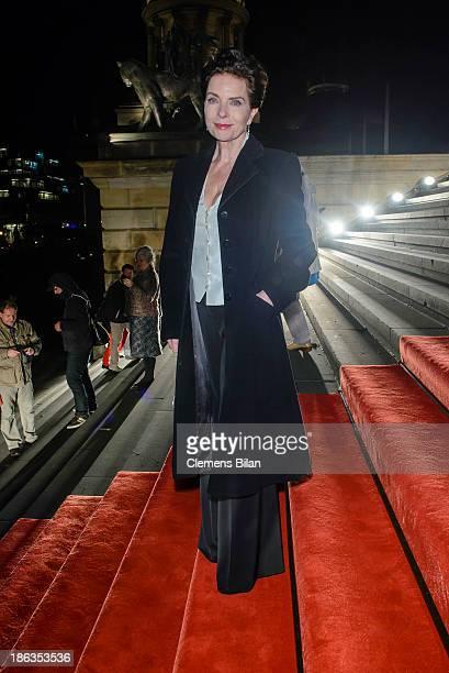 Gudrun Landgrebe arrives for Prix Montblanc 2013 at Konzerthaus Am Gendarmenmarkt on October 30 2013 in Berlin Germany