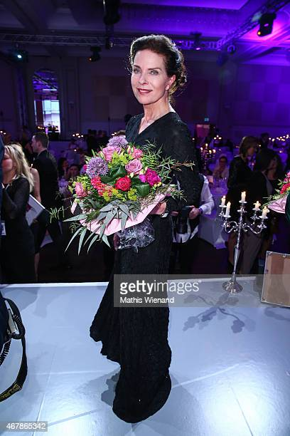 Gudrun Landgrebe attends the Gloria Deutscher Kosmetikpreis 2015 at Hilton Hotel on March 27 2015 in Duesseldorf Germany
