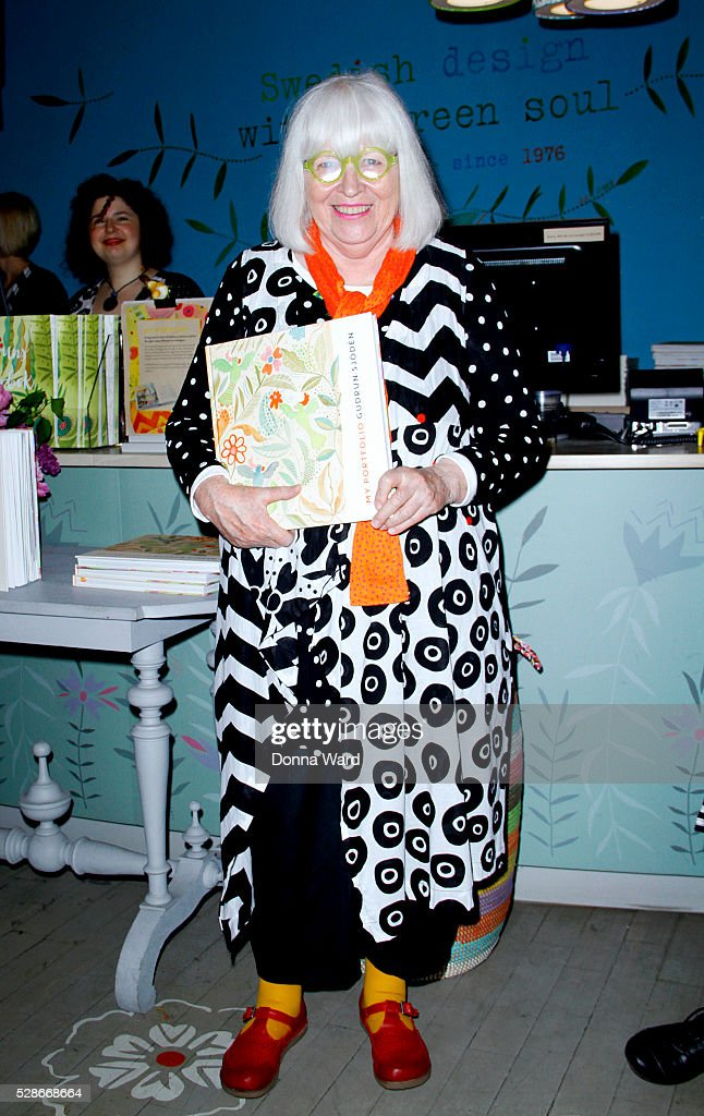 Gudrun Sjoden appears to sign copies of her new book 'My Portfolio' at Gudrun Sjoden Store on May 6, 2016 in New York City.