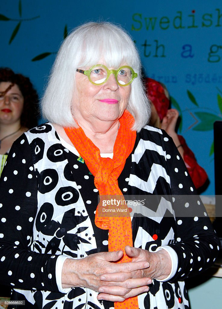 Gudrun Sjoden appears to sign copies of her new book 'My Portfolio'at Gudrun Sjoden Store on May 6, 2016 in New York City.