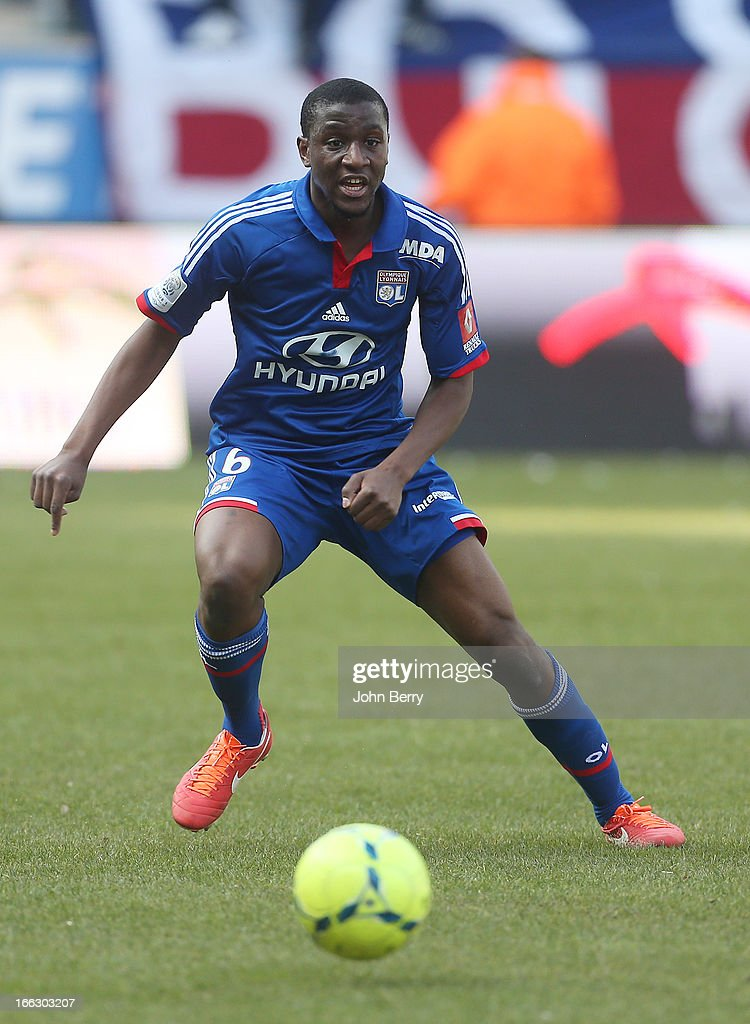 <a gi-track='captionPersonalityLinkClicked' href=/galleries/search?phrase=Gueida+Fofana&family=editorial&specificpeople=4309091 ng-click='$event.stopPropagation()'>Gueida Fofana</a> of Lyon in action during the french Ligue 1 match between Stade de Reims and Olympique Lyonnais, OL, at the Stade Auguste Delaune on April 7, 2013 in Reims, France.