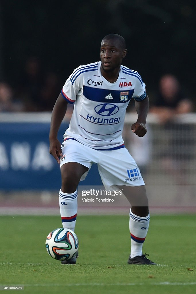 <a gi-track='captionPersonalityLinkClicked' href=/galleries/search?phrase=Gueida+Fofana&family=editorial&specificpeople=4309091 ng-click='$event.stopPropagation()'>Gueida Fofana</a> of Olympique Lyonnais in action during the preseason friemdly match between Olympique Lyonnais and PSV Eindhoven on July 15, 2015 in Aix-les-Bains, France.