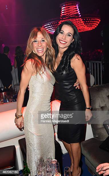 Guelcan Kamps and Ela Kamps attend the Kitz n' Glamour Party 2015 on January 23 2015 in Kitzbuehel Austria