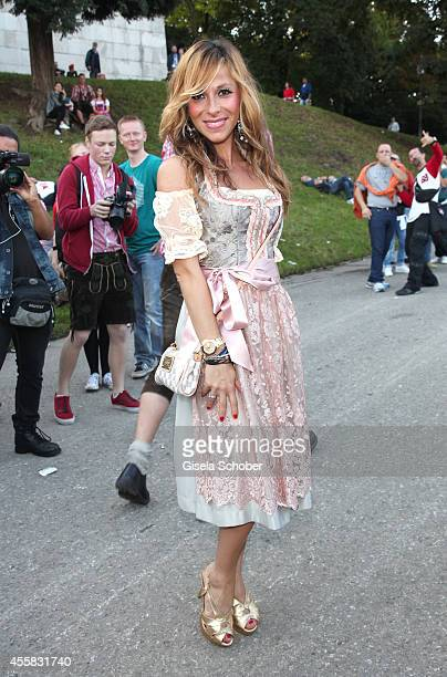 Guelcan Kamps attends 'Laureus Wiesn' during Oktoberfest Opening at Theresienwiese on September 20 2014 in Munich Germany