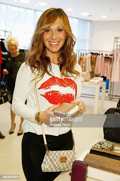 Guelcan Kamps attends the Basler Fashion Lounge on March 27 2014 in Dusseldorf Germany